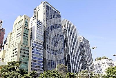 Downtown sao paulo brazil
