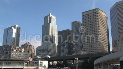 Downtown Seattle, United States stock footage