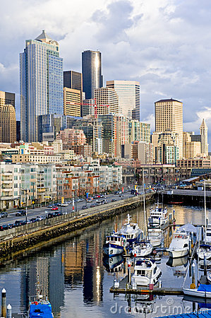 Free Downtown Seattle Waterfront Royalty Free Stock Photos - 4653288