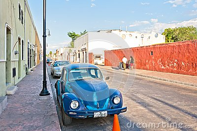 Downtown street view in Valladolid, Mexico Editorial Photo