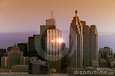 Downtown Toronto Sunrise - Canada