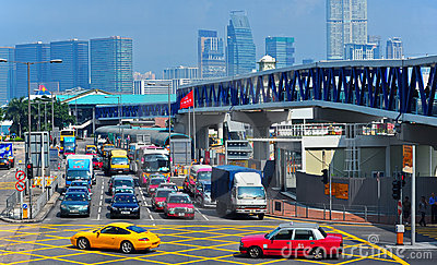 Downtown traffic in hong kong Editorial Image