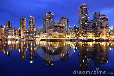 Downtown Vancouver Condos, Early Morning