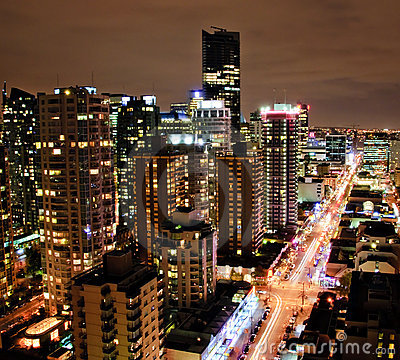 Downtown Vancouver Night