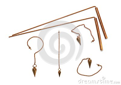Dowsing rods and pendulum