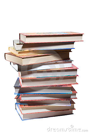 Free Dozen Different Books, Stacked Stock Photo - 5480570