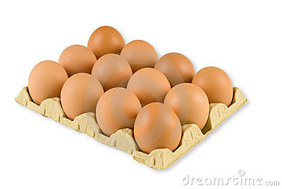 A Dozen Eggs Royalty Free Stock Image - Image: 3144896