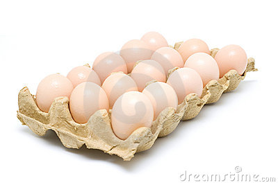 Dozen eggs (clipping path)