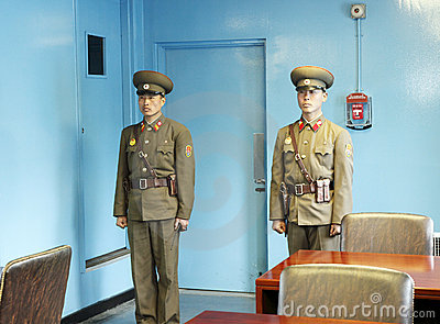 DPRK soldiers in the MAC Editorial Stock Photo
