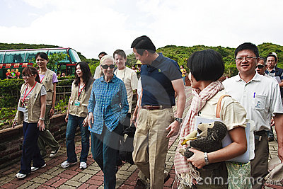 Dr. Jane Goodall in 2010 the Republic of China Tai Editorial Stock Image