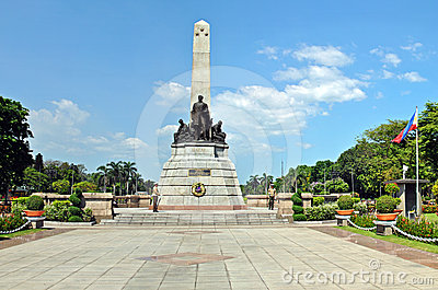 Dr. Jose Rizal Monument Editorial Stock Photo