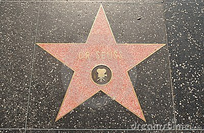 Dr. Seuss  Star on the Hollywood Walk of Fame Editorial Stock Photo