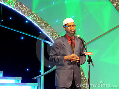 Dr. Zakir Naik Speech Editorial Photography