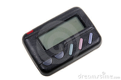 Draadloze pager.