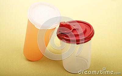 Draagbare plastic kop