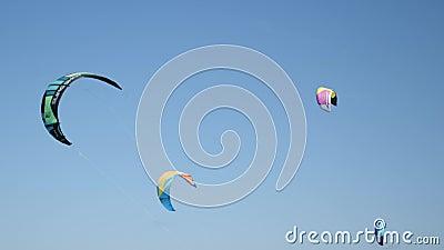 Drachen fliegen am Himmel stock footage