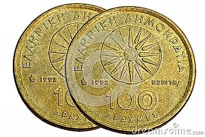 Drachmas coin 100