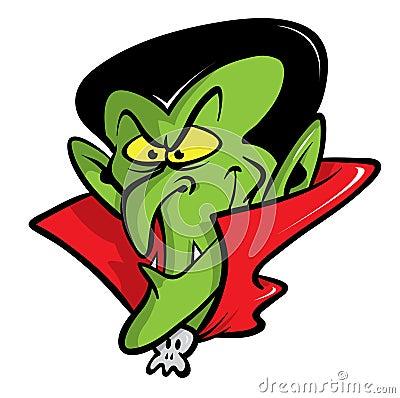 Dracula vampire cartoon illustration