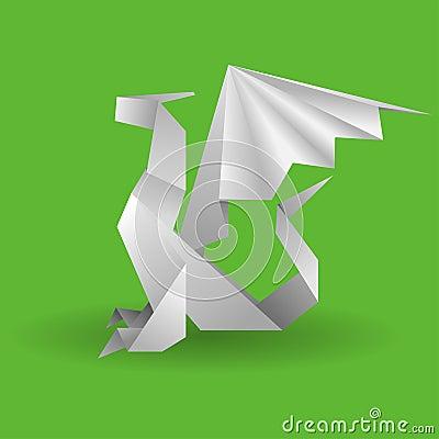 Dragón de Origami