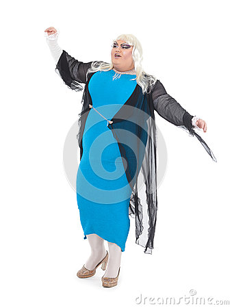 Drag queen dressed as a female singer