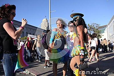 Drag Queen Photos at San Francisco Pride Editorial Stock Photo