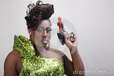 Drag queen with raygun