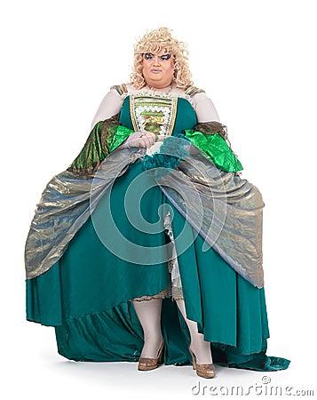 Drag queen in vintage dress