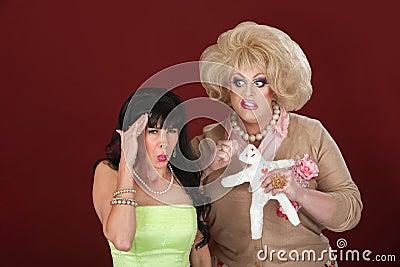 Drag Queen With Voodoo Doll