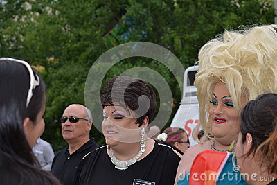 Drag Queens at Pride Parade Editorial Photo