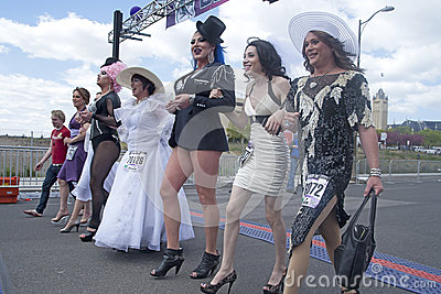 Drag queens in Spokane. Editorial Photo