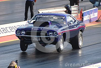 Drag Race Dodge Challenger Muscle Car Editorial Image