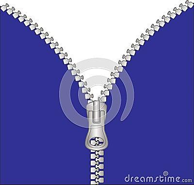 Dragen ned blixtlåset på zipper