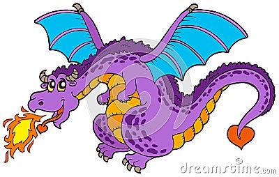 Dragón de vuelo enorme