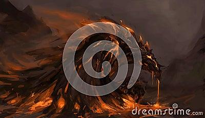 Dragón fundido
