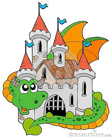 Dragon avec le vieux château