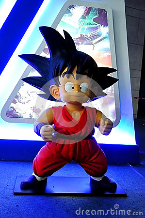 DRAGON BALL Hero Son Goku Statue Editorial Stock Photo