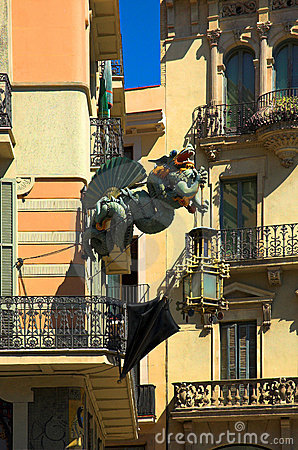 Dragon in Barcelona