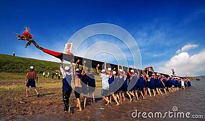 Dragon boat Editorial Stock Photo