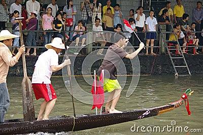 Dragon boat in Guangzhou Editorial Photography