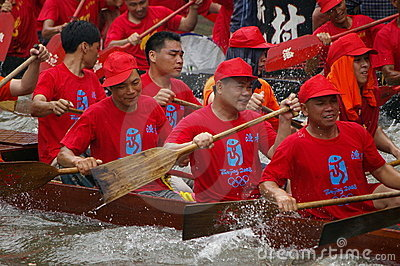 Dragon boat in Guangzhou Editorial Image