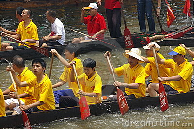 Dragon boat in Guangzhou Editorial Photo