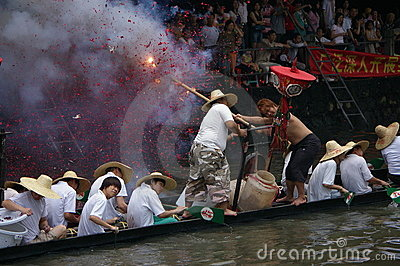 Dragon boat in Guangzhou Editorial Stock Image