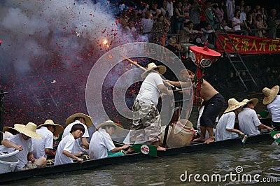 Dragon boat in Guangzhou Editorial Stock Image