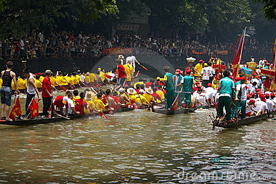 Dragon boat in Guangzhou Editorial Stock Photo