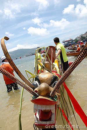 Free Dragon Boat Head Stock Photo - 2666090