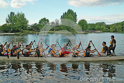Dragon Boat Practice Ottawa Ontario Canada Editorial Photo