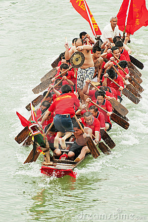 Dragon Boat Race Editorial Photography