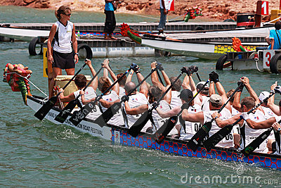 Dragon Boat Race Editorial Stock Photo