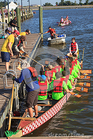 Dragon Boat Racers National Harbor Washington DC Editorial Photo