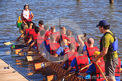 Dragon Boat Racers National Harbor Washington DC Editorial Photo